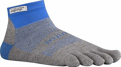 Injinji Perf Run Midweight Mini-Crew CoolMax XtraLife Toe Socks Mariner Blue-L