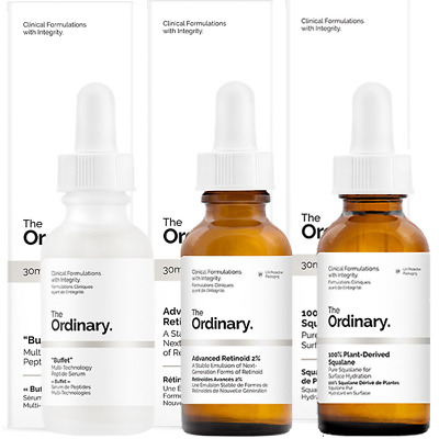 NEW The Ordinary Overnight Anti Ageing Repair Routine 3 X 30ml Womens Skin Care