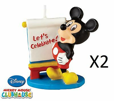 Wilton Mickey Mouse Clubhouse Candle Birthday Cake Cupcake Celebration (2-Pack)