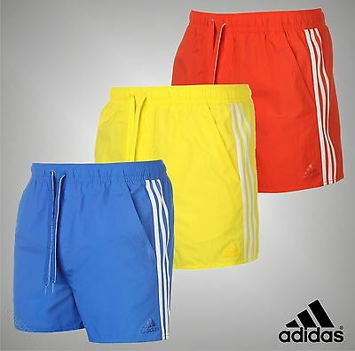 Mens Adidas Lightweight 3 Stripes Essentials Swim Shorts Swimwear Size S M L XL