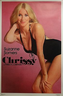 Suzanne Somers 23x35 Chrissy Threes Company Poster 1977 Dargis