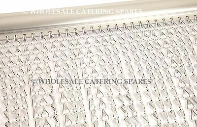 Metal Aluminium Chain Fly Pest Insect Door Screen Curtain Control - 120cm wide