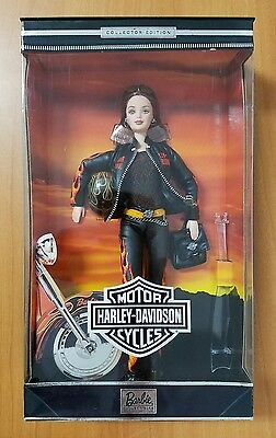 2000 Harley Davidson Barbie Auburn Red Hair Flames Leather Outfit NRFB