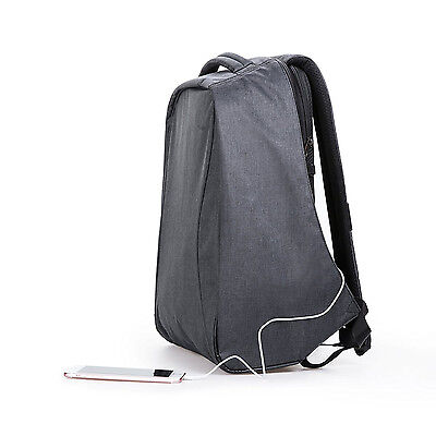 "New 15.6"" HTB Anti-Theft Backpack Waterproof USB Port Travel Busniess Laptop Bag"