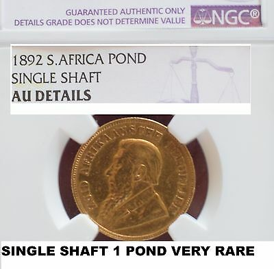 1892 South Africa Single Shaft-Not Double-Pond Extremely Rare Ngc-Ex1965 Auction