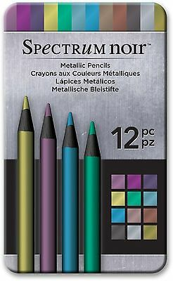 SPECTRUM NOIR METALLIC PENCILS - 12 pack set - FREE UK P&P