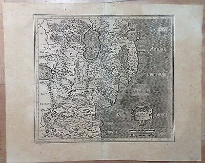 Ireland East Gerard Mercator & Jodocus Hondius 1623 Large Antique Map