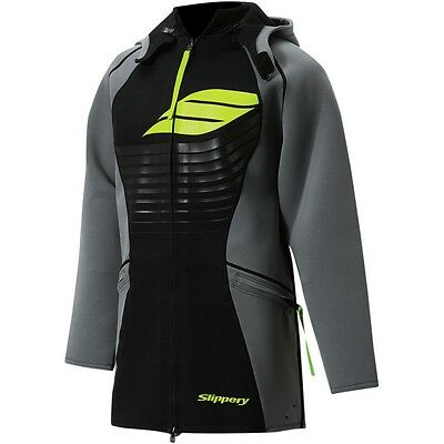 Slippery Black/Lime Water Resistant Mens Jetski Skiing Water Sports Tour Coat
