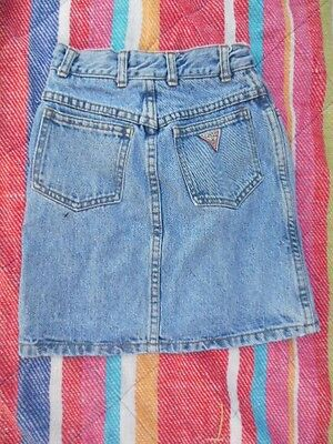 Vintage 80's GUESS Jean Skirt Georges Marciano Classic  Denim EUC child sz 8