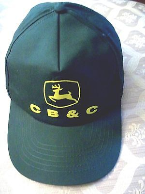 John Deere Farm Tractor  Green Cb&c Dealer Snapback Adjustable Cap Hat Nice!