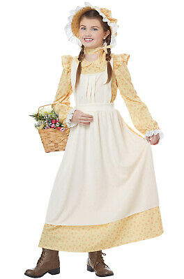 Brand New Prairie Girl Colonial Pilgrim Settler Child Costume