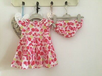 Baby Girls Pink Spotted Summer Dress By Bluezoo Age 3-6 Months