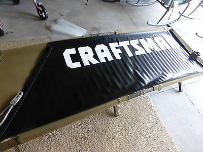 CRAFTSMAN TOOL / RACING Banner - New Old Stock Store Sign Advertising Display