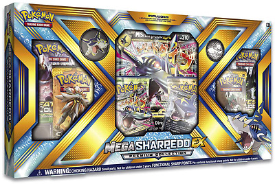 Pokemon - Mega Sharpedo EX Premium Collection Box inc.Booster Packs + Promo Card