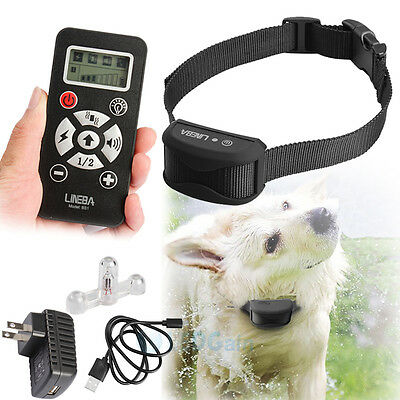 Waterproof Rechargeable Remote LCD Electric Dog Training Shock Collar 4 Modes US