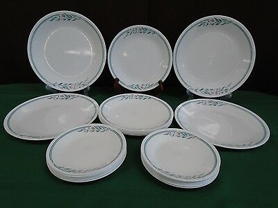 Vintage Retired Corelle Dinnerware ROSE MARIE 22pc Set of Dishes Pink Flowers