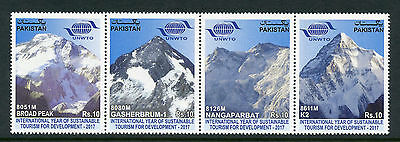 Pakistan 2017 MNH UNWTO Intl Yr of Sustainable Tourism 4v Strip Mountains Stamps
