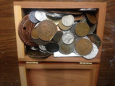 100 Mixed coin lot, 1800s, 1900s, Silver Coins.