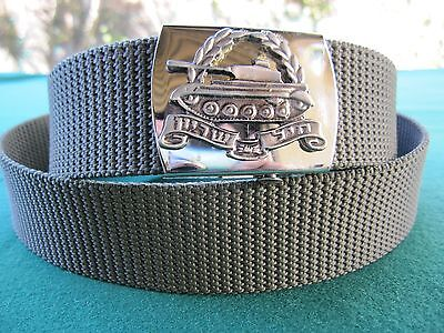 Israel Idf Army : Armored Corps Top Brass Dress Belt W/ Org. Silver Sign ! New.