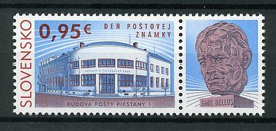 Slovakia 2017 MNH Stamp Day 1v Set + Label Architecture Stamps