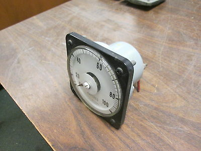 GE AC Ammeter 50-103131-ISPK CT Ratio 20:1 Scale: 5A Range: 0-100A 40-70Hz Used