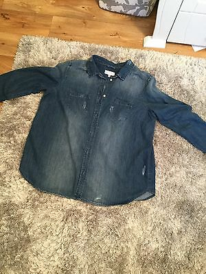 next maternity denim shirt size 14