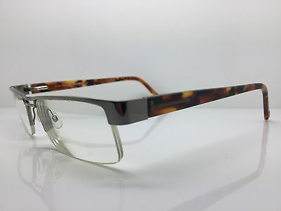 TOM FORD Gunmetal & Havana Semi-Rimless Used Designer Glasses Eyeglasses Frames