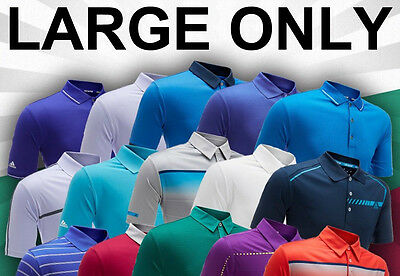 Adidas Golf Polo Shirt Clearance - Size LARGE ONLY - RRP£45+ - 40+ Designs