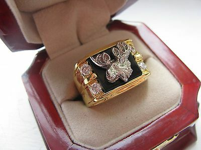 "NEW! Mens Heavy ""Loyal Order Of Moose"" Club CREST Ring *"
