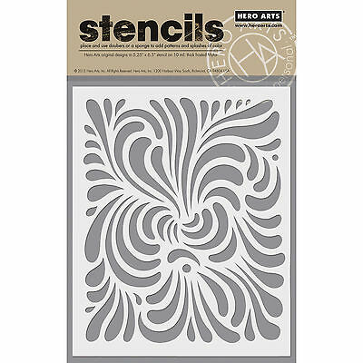 "Hero Arts Stencil 6.25""X5.25"" Swirl HA-SA-60"