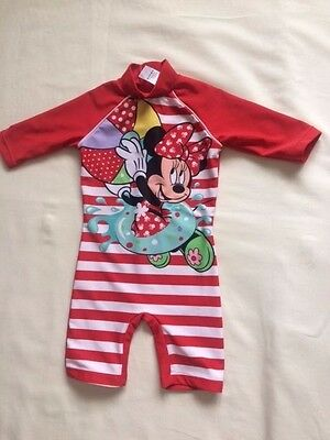Minnie Mouse Baby Girls Red Swimming Costume / Swimming Suit 6-9 months