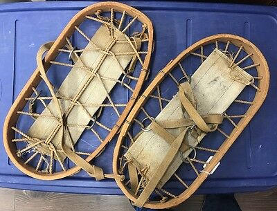 Ww2 Snowshoes Bearclaw Canadian Or British Very Nice!