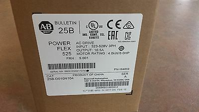 "25B-D010N104 Allen Bradley 25BD010N104 Powerflex 525  5HP  ""Kentucky Stock"""