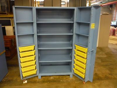 "Lyon Heavy Duty Storage Cabinet 4 shelf Door Storage 38.88"" x 26.63"" x 76.25"""
