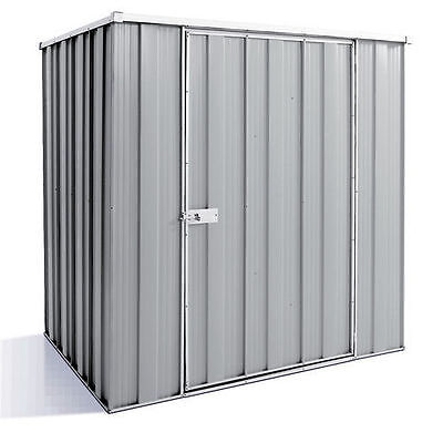 Storage Shed F42 Single Door Flat Roof  Garden Shed - 1.4mx0.7mx1.8mH - Zinc