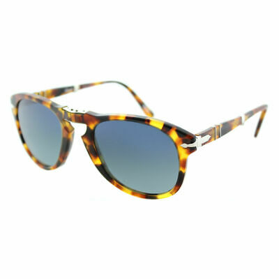 4a02ae7980f7c Persol PO 714 1052S3 Madreterra Plastic Sunglasses Blue Polarized Lens 54mm