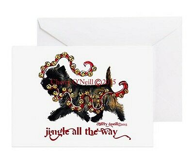 CairnTerrier Christmas Greeting Card Set of 10 Jingle Holiday