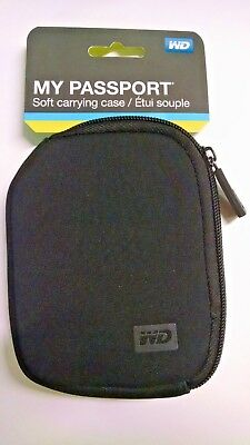 WD Western Digital My Passport Soft Carrying Case, Black Color, NEW~!!