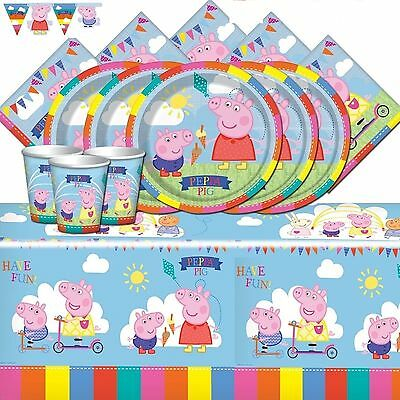 Peppa Pig Party Supplies Birthday Party Kits For 8 16 24 32 40 + Banner Balloons
