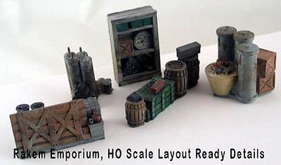 HO Scale Industrial Yard Details 5 Pce - Layout Ready - 217DPM