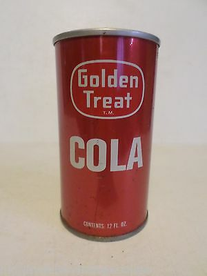 Vintage Rare Golden Treat Cola for Fairway Foods Straight Steel Soda Pop Can