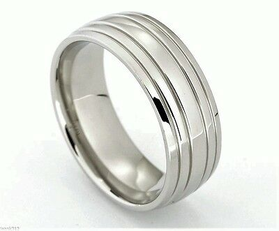 New 8mm Linkin Park Band Ring High Polished Rings Stainless Steel Ring//SHK