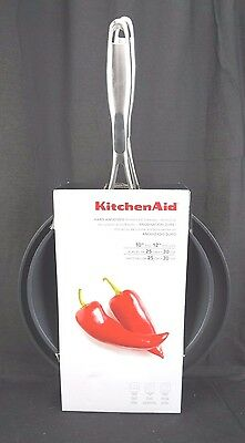 "KitchenAid Hard Anodized Nonstick 10"" & 12"" Skillets Twin Pack Cook ""Black"""