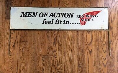 Rare Vintage RED WING SHOES Advertising Sign