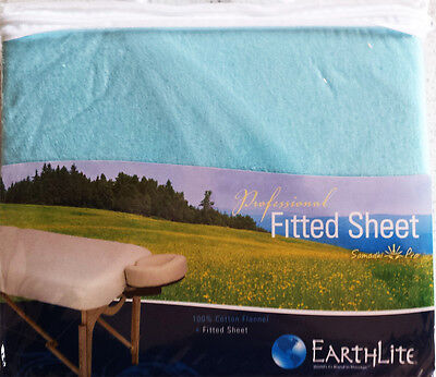 Massage Table  Fitted Sheet - 100% Cotton Flannel - Blue