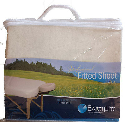 Massage Table  Fitted Sheet - 100% Cotton Flannel - Natural