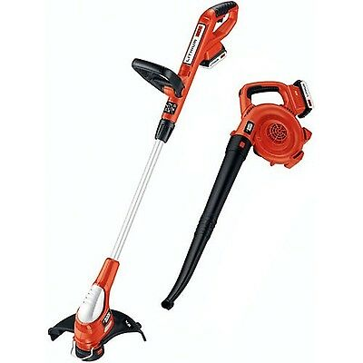BLACK + DECKER LCC220 20-Volt Max Trimmer and Sweeper Combo Kit