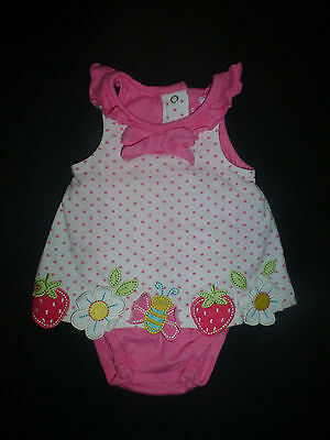 Koala Baby Girl Pink Sleeveless Romper Sunsuit Dress 3 Months