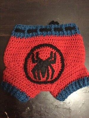 Spider-Man wool shorties. hand made