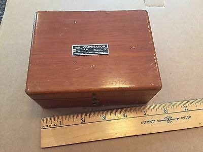 Vintage Laboratory Weights with Wood Box-Made In USA
